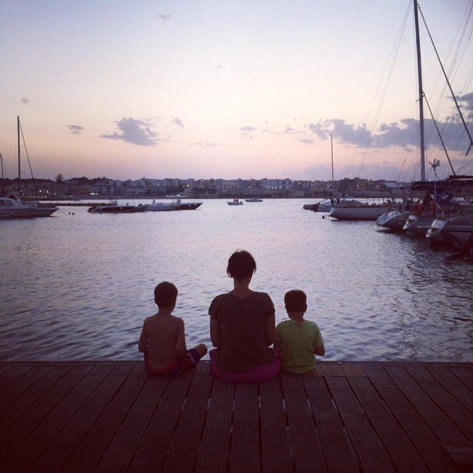 parlare al tramonto con i pesci